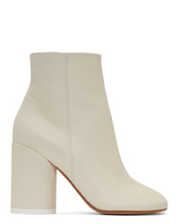 Bottines en cuir beiges MM6 MAISON MARGIELA