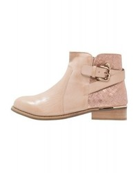Bottines en cuir beiges XTI