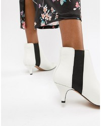 Bottines en cuir blanches ASOS DESIGN