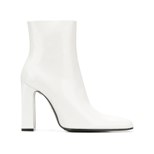 Bottines en cuir blanches Balenciaga
