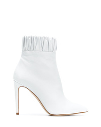 Bottines en cuir blanches Chloe Gosselin