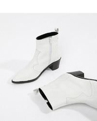 Bottines en cuir blanches DEPP