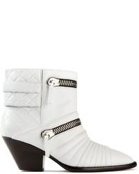 Bottines en cuir blanches Giuseppe Zanotti Design