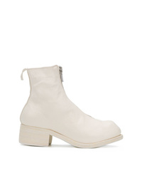 Bottines en cuir blanches Guidi