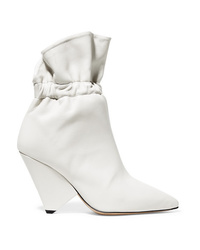 Bottines en cuir blanches Isabel Marant