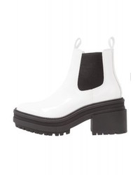 Bottines en cuir blanches River Island