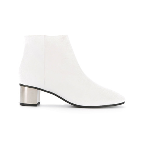 Bottines en cuir blanches Senso