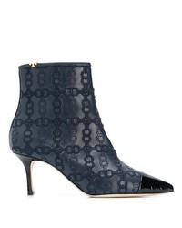 Bottines en cuir bleu marine Tory Burch