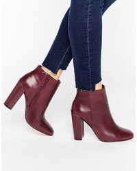 Bottines en cuir bordeaux Aldo