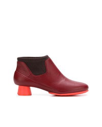 Bottines en cuir bordeaux Camper