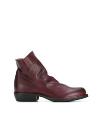 Bottines en cuir bordeaux Fiorentini+Baker