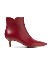 Bottines en cuir bordeaux Gianvito Rossi