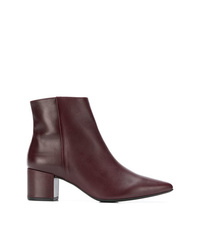 Bottines en cuir bordeaux Högl