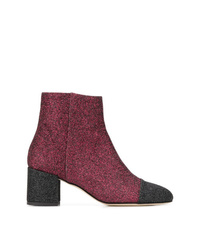 Bottines en cuir bordeaux Paris Texas