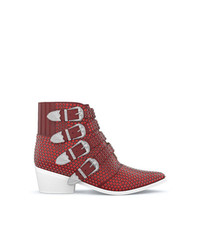 Bottines en cuir bordeaux Toga Pulla