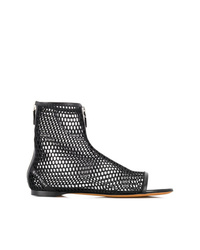 Bottines en cuir découpées noires Givenchy