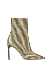 Bottines en cuir dorées Dsquared2