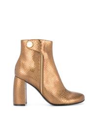 Bottines en cuir dorées Stella McCartney