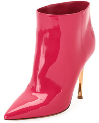 Bottines en cuir fuchsia