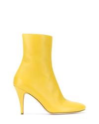 Bottines en cuir jaunes A.F.Vandevorst