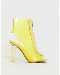 Bottines en cuir jaunes ASOS DESIGN