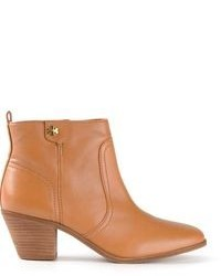 Bottines en cuir marron clair