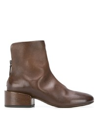 Bottines en cuir marron Marsèll