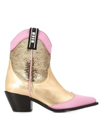 Bottines en cuir multicolores MSGM