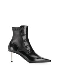 Bottines en cuir noires Alexander McQueen