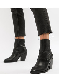 Bottines en cuir noires ASOS DESIGN