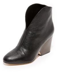 Bottines en cuir noires Diane von Furstenberg