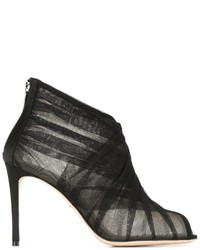 Bottines en cuir noires Dolce & Gabbana