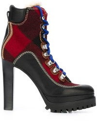 Bottines en cuir noires Dsquared2