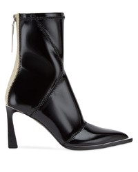 Bottines en cuir noires Fendi