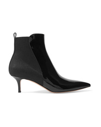 Bottines en cuir noires Gianvito Rossi