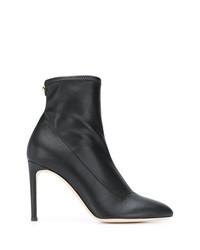 Bottines en cuir noires Giuseppe Zanotti Design