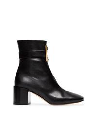 Bottines en cuir noires Givenchy
