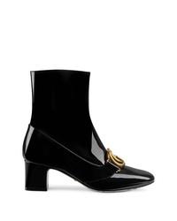 Bottines en cuir noires Gucci