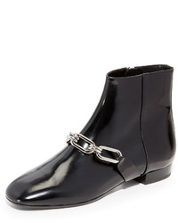 Bottines en cuir noires Michael Kors