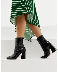 Bottines en cuir noires Missguided