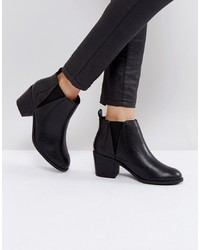 Bottines en cuir noires Office