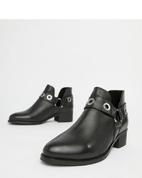 Bottines en cuir noires Park Lane