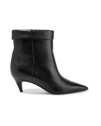 Bottines en cuir noires Saint Laurent