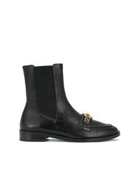 Bottines en cuir noires Versace