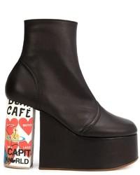 Bottines en cuir noires Vivienne Westwood