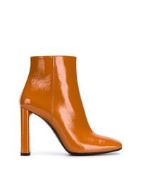 Bottines en cuir orange Casadei