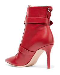 Bottines en cuir rouges Gianvito Rossi