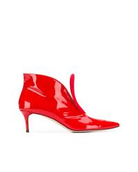 Bottines en cuir rouges Christopher Kane