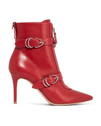 Bottines en cuir rouges Gianvito Rossi