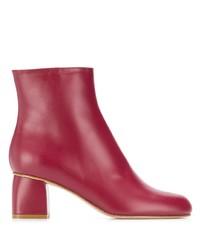 Bottines en cuir rouges RED Valentino